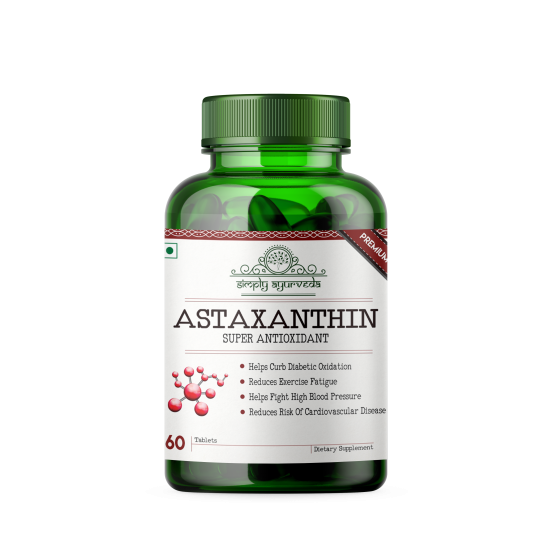 Astaxanthin with 4Mg Asta Real, 60 Tablets