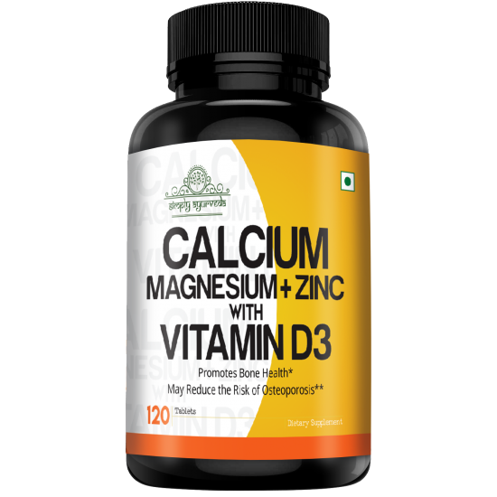 Calcium Magnesium+Zink with Vitamin D3, 120 Tablets